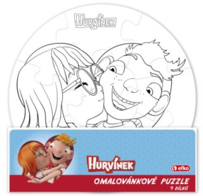 EFKO Namaluj si sám puzzle - Hurvínek a kouzelné muzeum - kruh 9 dílků