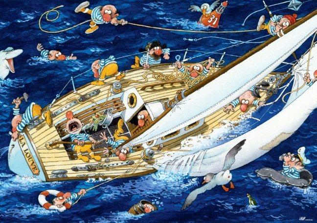 HEYE Puzzle Námořníci 1000 dílků
