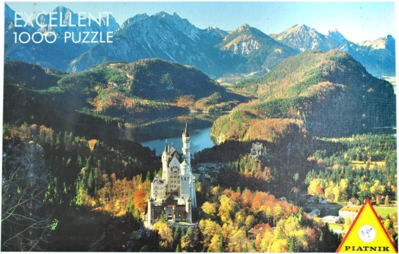 Puzzle PIATNIK 1000 dílků - Neuschwanstein a okolí