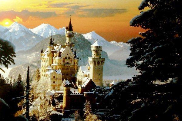 TREFL Puzzle Neuschwanstein v zimě 3000 dílků