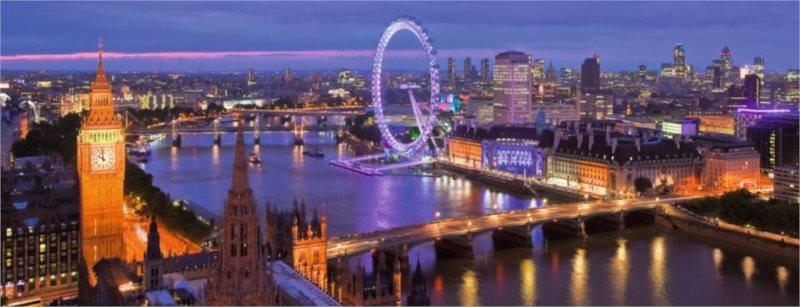 Puzzle RAVENSBURGER 1000 dílků - Noční Londýn