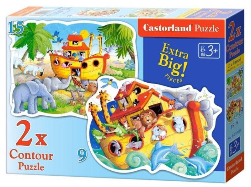CASTORLAND Puzzle Noemova archa 9+15 dílků