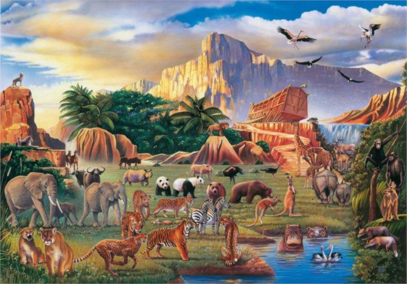 CLEMENTONI Puzzle Noemova archa 1500 dílků