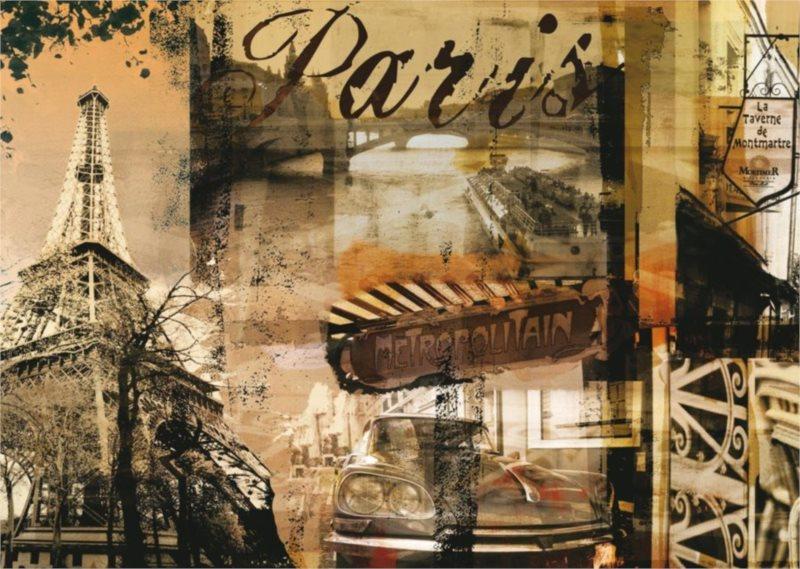 Puzzle RAVENSBURGER 1000 dílků - Nostalgie - Paříž