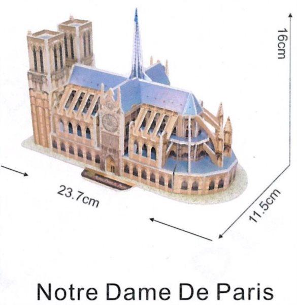 3D puzzle - Notre Dame, Paříž 3D, 30 dílků
