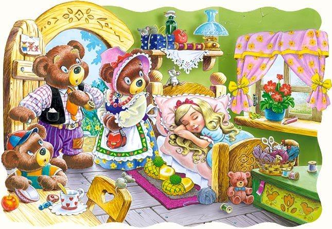 CASTORLAND Puzzle O Mášence a třech medvědech 30 dílků