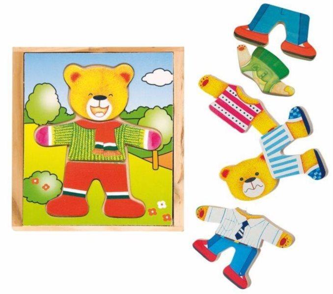 Oblékací skládačka, šatní skříň - Medvěd