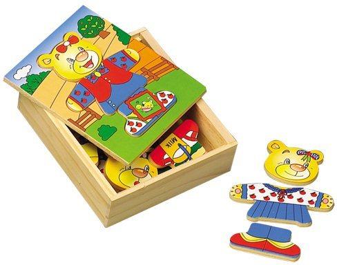 Oblékací skládačka, šatní skříň - Medvědí holčička 1