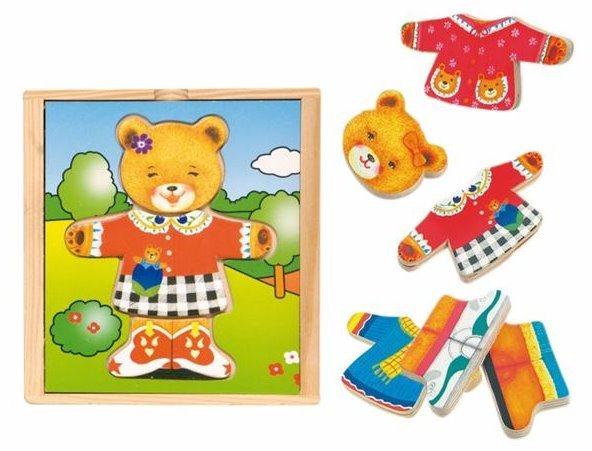 Oblékací skládačka, šatní skříň - Medvědice