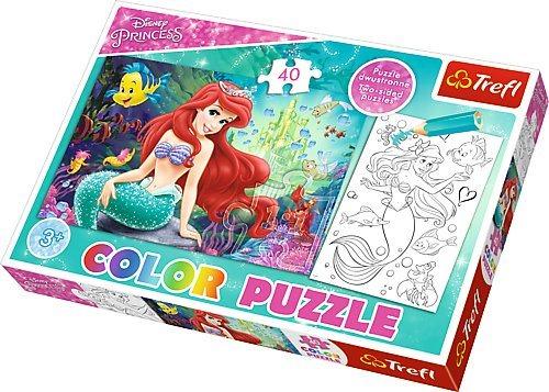TREFL Oboustranné puzzle Ariel Malá mořská víla 20 dílků