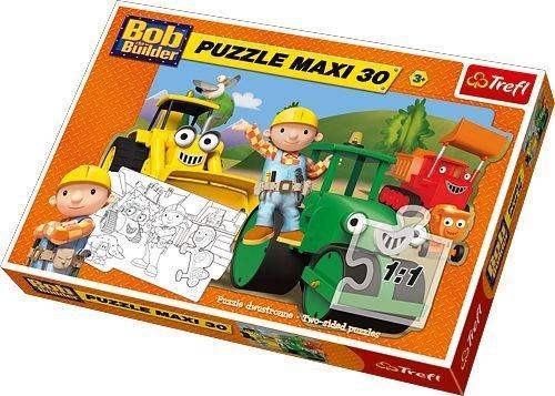 Maxi Puzzle pro děti TREFL 30 dílků - Bořek Stavitel a pomocníci
