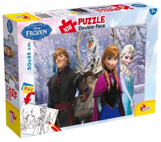 Puzzle pro děti (oboustranné) LISCIANI 49301 Ledové království: Přátelé 108 dílků