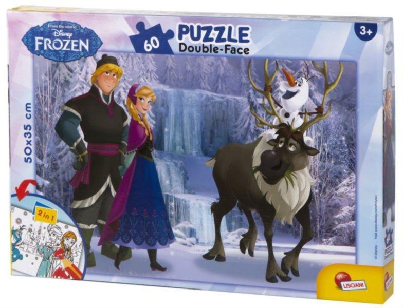 Puzzle pro děti (oboustranné) LISCIANI 49295 Ledové království: Procházka 60 dílků
