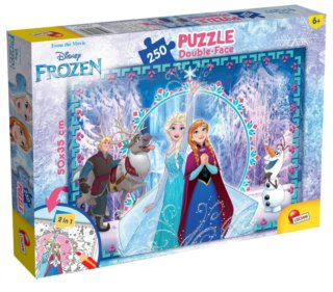 LISCIANI Oboustranné puzzle Ledové království: Zimní kouzlo 250 dílků
