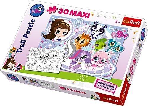 Maxi Puzzle pro děti TREFL 30 dílků - Littlest Pet Shop