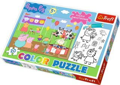 Puzzle pro děti (oboustranné) TREFL 20 dílků - Prasátko Pepina
