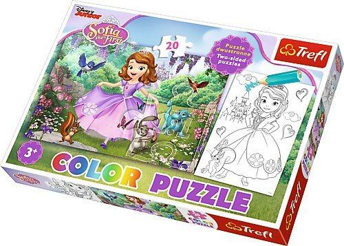 Puzzle pro děti (oboustranné) TREFL 20 dílků - Sofie První