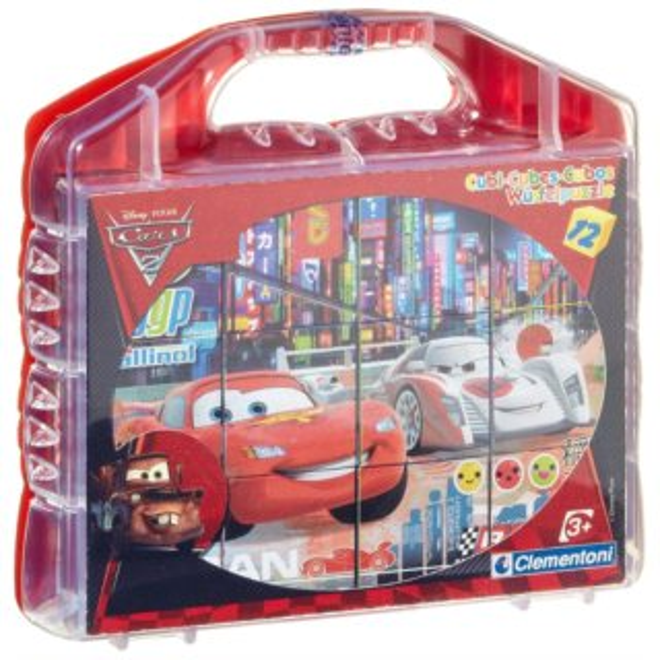 CLEMENTONI Dětské obrázkové kostky Auta 2 Cars 2 12 kostek