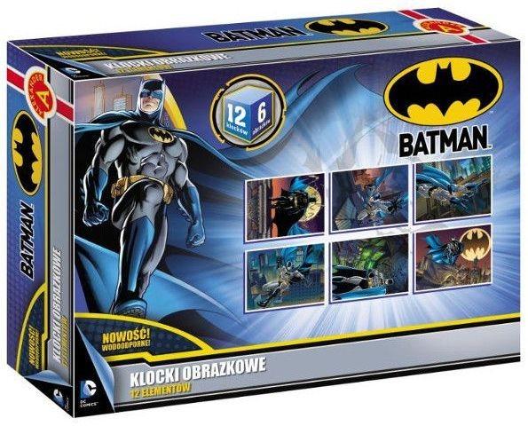 ALEXANDER Dětské obrázkové kostky Batman 12 kostek