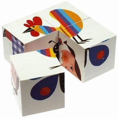 Dětské obrázkové kostky TOPA 38101, 4 kostky