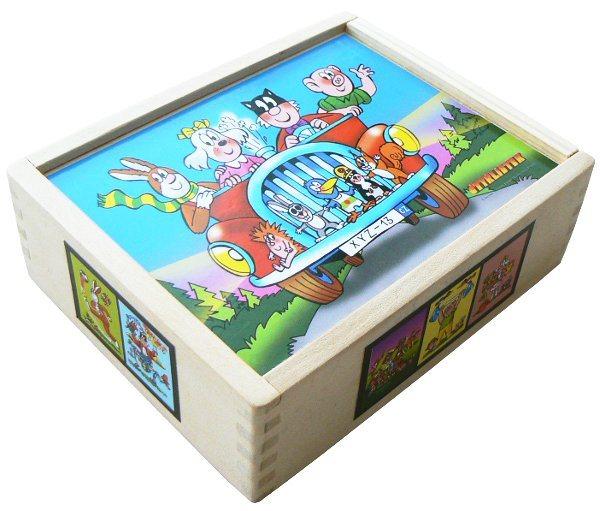 Dětské obrázkové kostky Čtyřlístek - 12 kostek