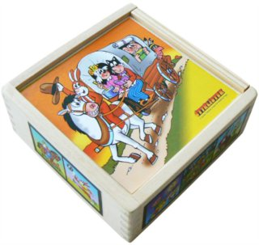 Dětské obrázkové kostky - Čtyřlístek 9 kostek