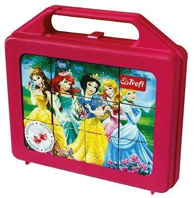 TREFL Dětské obrázkové kostky plastové Disney Princezny 12 kostek