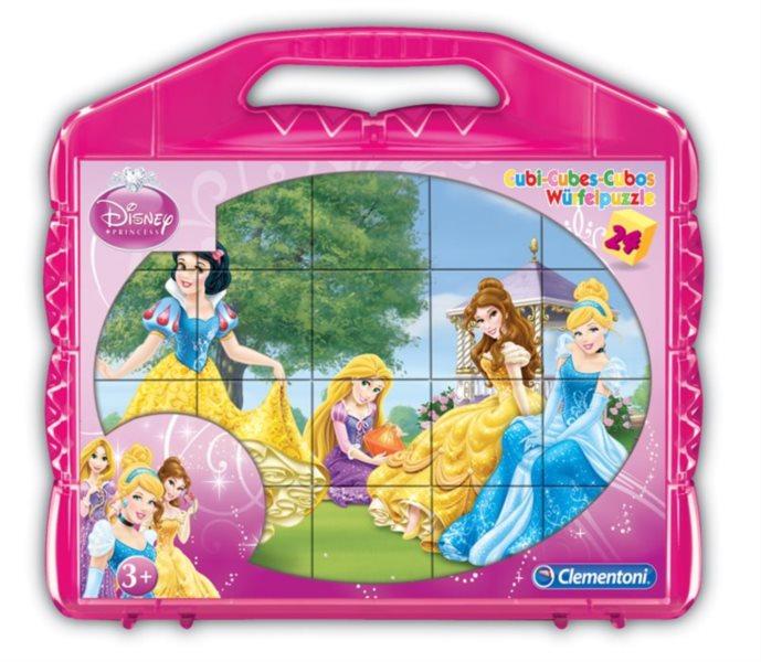 CLEMENTONI kostky plastové Disney princezny 24 kostek