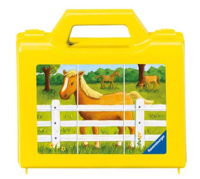 Dětské kostky RAVENSBURGER - Farma 6 omyvatelných kostek