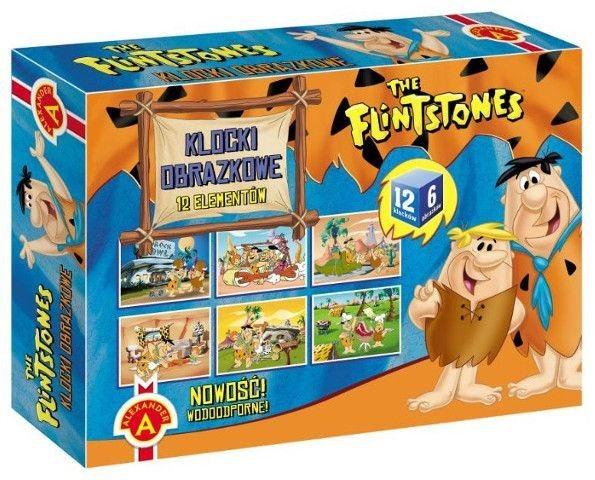 ALEXANDER Dětské obrázkové kostky Flinstoneovi 12 kostek