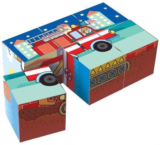 Dětské obrázkové kostky TOPA - Kubíkovy kostky 6 kostek