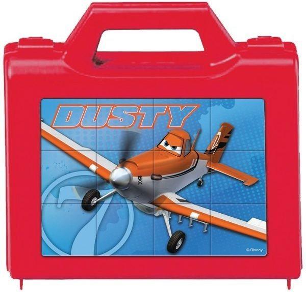 TREFL Dětské obrázkové kostky plastové Letadla 12 kostek