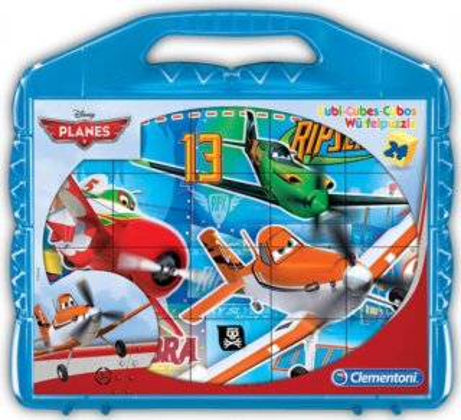 CLEMENTONI Dětské kostky plastové, Letadla