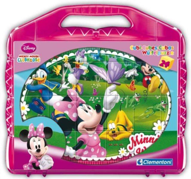 CLEMENTONI Dětské kostky plastové Minnie (24 kostek)