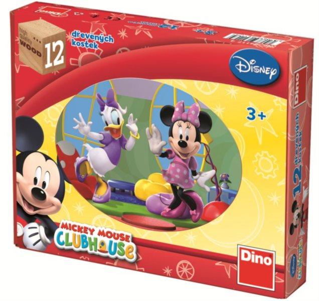 DINO Obrázkové kostky Mickeyho klubík, 12 kostek