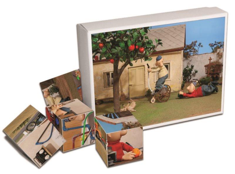 Dětské obrázkové kostky Pat a Mat 12 kostek