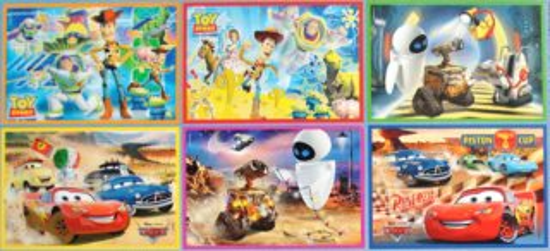 CLEMENTONI Dětské obrázkové kostky plastové, Pixar MIX (24)