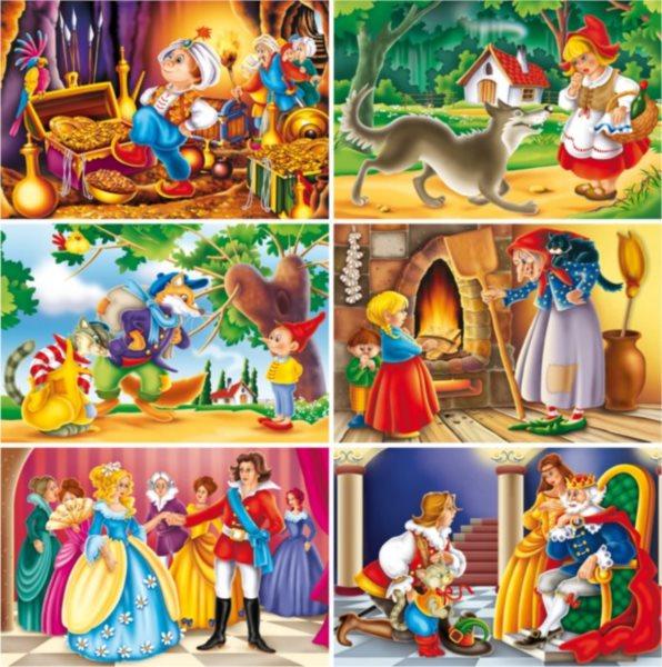 Dětské obrázkové kostky - Pohádky, 24 kostek