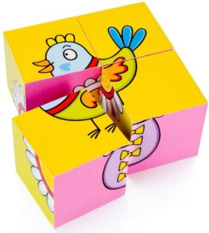 Dětské obrázkové kostičky TOPA - Pro nejmenší dětičky 4 kostky