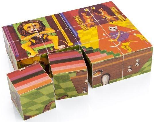 TOPA Obrázkové kostky Z pohádky do pohádky, 12 kostek