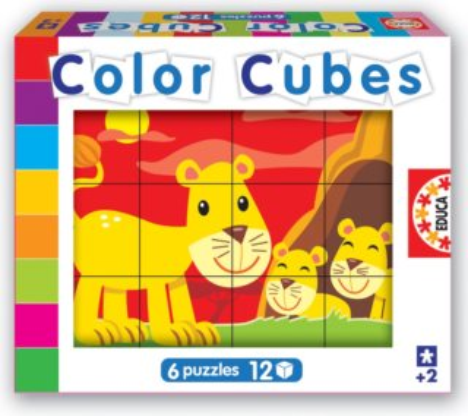 Dětské kostky EDUCA - Zvířátka (12 kostek)