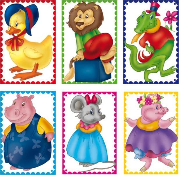 Dětské obrázkové kostky - Zvířátka, 6 kostek
