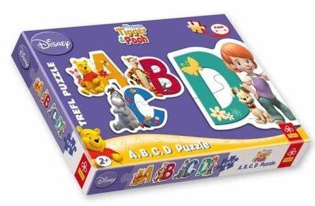 TREFL Baby puzzle Medvídek Pú: Písmena 4v1 (2-4 dílky)