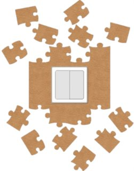 Ochrana vypínače Puzzle - béžová