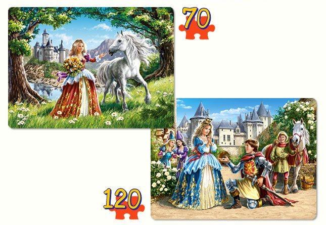 CASTORLAND Puzzle Okouzlující princezny 70+120 dílků