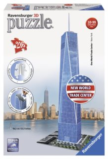 3D puzzle RAVENSBURGER 216 dílků - One World Trade Center 3D, New York