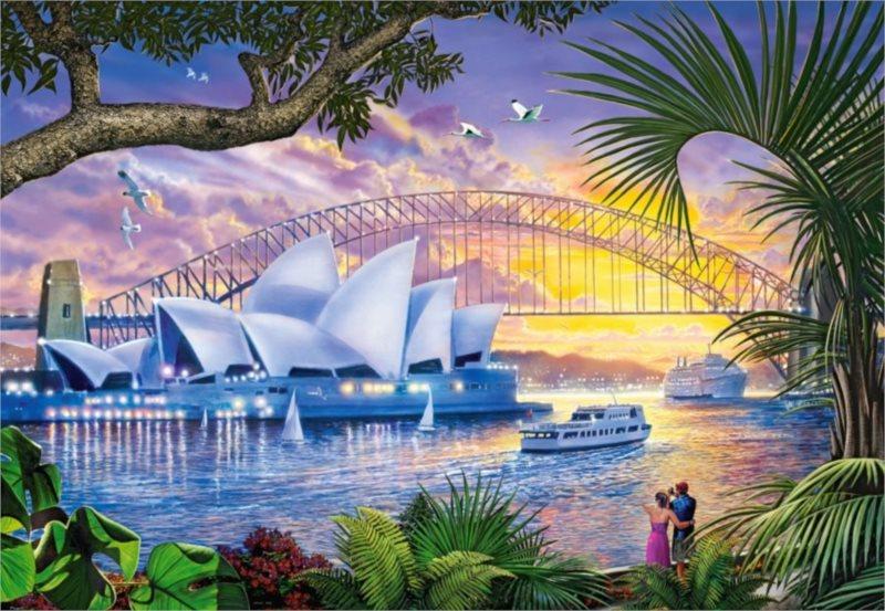Puzzle CASTORLAND 1500 dílků - Opera v Sydney