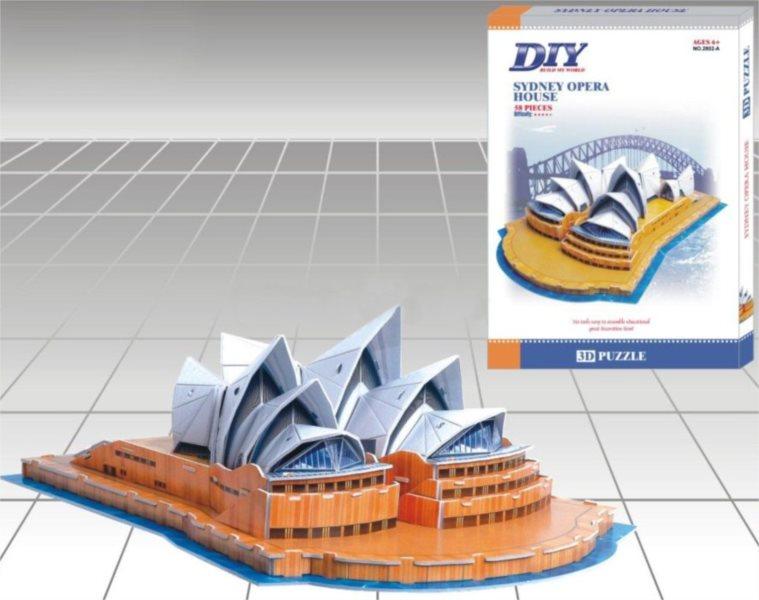 3D puzzle DIY 58 dílků - Opera v Sydney 3D