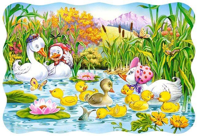 Dětské puzzle 30 dílků - Ošklivé káčátko, CASTORLAND
