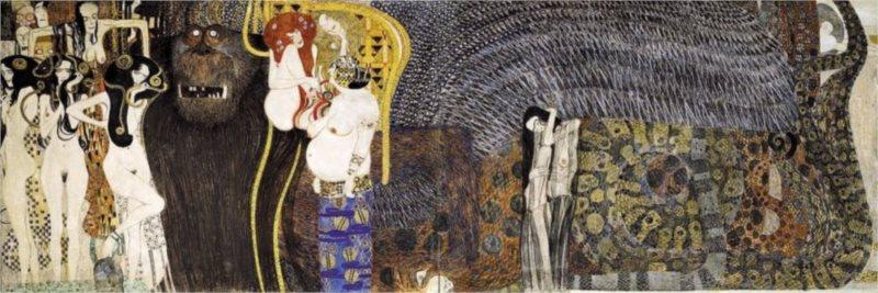 Panoramatické puzzle EDITIONS RICORDI 1000 dílků - Klimt, Ozdoba od Beethovena